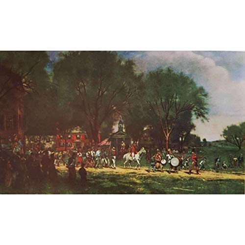 Alfred Cornelius Howland Fourth of July Parade 1886 Vintage Lithograph Limited -