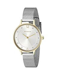 Skagen Women's SKW2340 Crystal-Accented Two-Tone Stainless Steel Watch