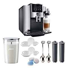 With its harmonious clean lines, the stylish S line exudes quality and precision in every way. The Jura S8 15212 Automatic Coffee Machine combines the best of the compact class with elements of the premium segment, including a hint of ...