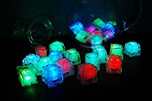 LiteCubes Brand Light up Assorted LED Ice Cubes, 12 Pack