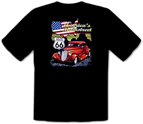 T-Shirt Hot Rod Route 66 Speed Lowrider Auto Vintage Car Kustom Shop -167 (XXL)