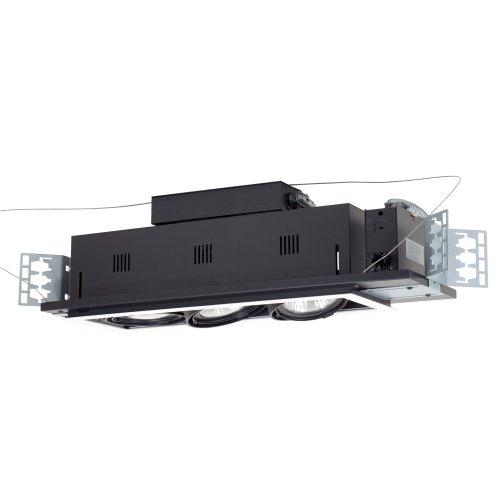 - Jesco Lighting MGP30-3BB Modulinear Directional Lighting For New Construction, Double Gimbal PAR30 3-Light Linear, Black Interior With Black Trim