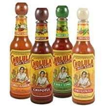 Cholula 4 Variety pack of HOT sauce 5 oz each