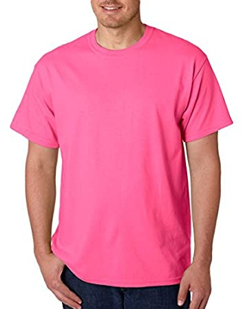 771a5cf9 Amazon.com : Gildan Heavy Cotton 5.3 oz. T-Shirt, 3XL, SAFETY PINK ...
