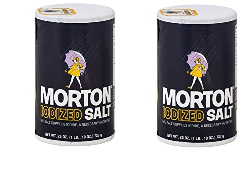 Morton Iodized Salt, 26 oz, Pack of 2 (Iodized Table Salt compare prices)