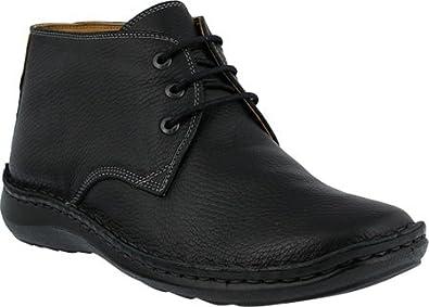 Men's Spring Step Men Mathias Men's Lace-UP Shoe  Color Black  Men's Leather Lace-up Chukka Boot