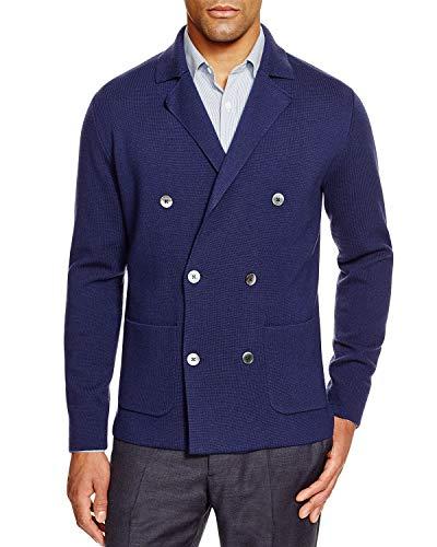 Hardy Amies Mens Double Breasted Merino Wool Cardigan Sweater Medium M ()