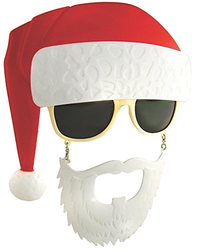 Costume Sunglasses Santa Sun-Staches Party Favors UV400 -