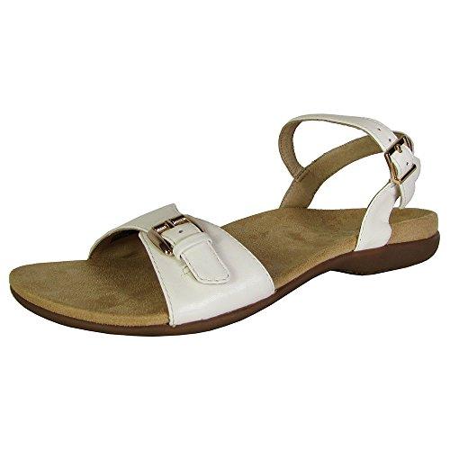 Vionic Womens Alita Orthaheel Slingback Ankle Strap Sandal Shoe, White, US 8 W by Vionic