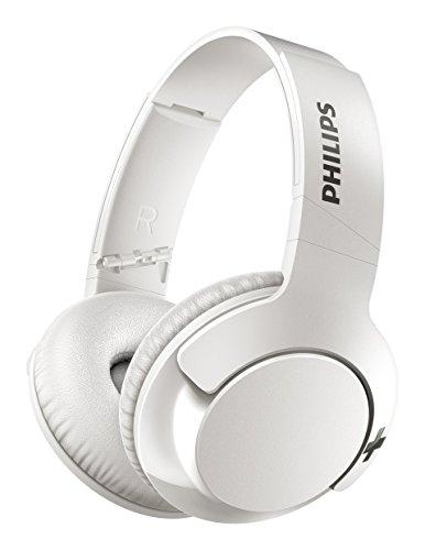 Philips SHB3175WT BASS+ Over-Ear Bluetooth-Kopfhörer (13 Stunden Akku, satter Bass, Freisprechfunktion) weiß