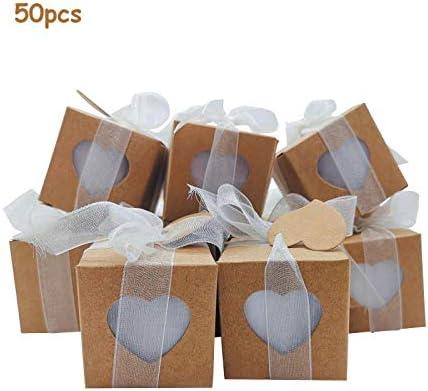 Bomboniere Matrimonio Meno Di 10 Euro.50xscatoline Portaconfetti Sacchetti Ed Etichette Kit Completo
