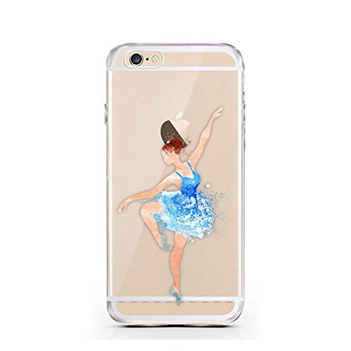 Iphone 6 6S Caso por licaso® para el patrón de Iphone 6 Harry Potter Hogwarts Magia Magico TPU de silicona ultra-delgada proteger su Iphone 6 es elegante y cubierta regalo de coches Ballerina Blau