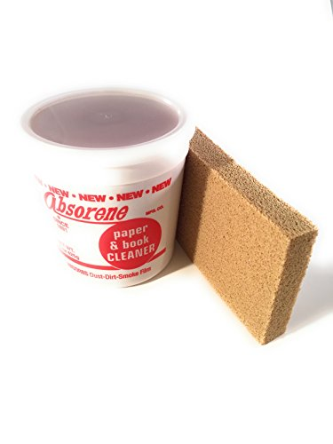 Absorene Book Cleaner and Dirt Eraser (Bundle- 2 Items) for Cleaning Dirt and Dust Off Books and Documents