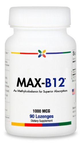 Stop Aging Now MAX-B12 Vitamin B12 1,000mcg Lozenges, 3-Pack