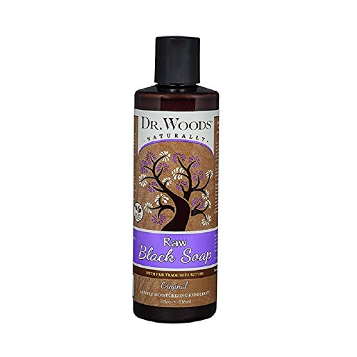 Dr Woods Shea Vision, Pure Black Soap With Shea Butter, 8-Ou