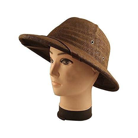 b4884fa861444 Image Unavailable. Image not available for. Color  FidgetFidget Hiking  Helmet Summer Sun Toyo Pith Safari Jungle Hat With Sweatband ...