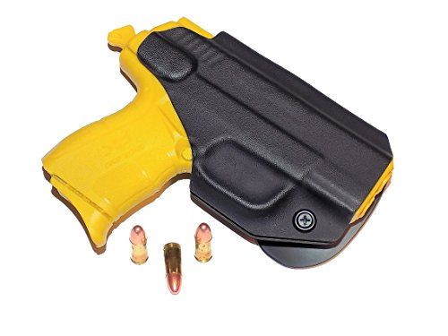 Aggressive Concealment XDEOWBBK-RH OWB Kydex Paddle Holster Springfield XDE 3.3 (Concealment Holster Paddle Kydex)