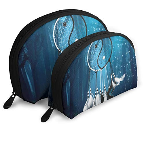 Pouch Zipper Toiletry Organizer Travel Makeup Clutch Bag Dreamcatcher Chinese Taiji Dream Portable Bags Clutch Pouch Storage Bags