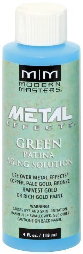Aging Solution - Modern Masters PA901-04 Aging Solution Green Patina, 4-Ounce by Modern Masters
