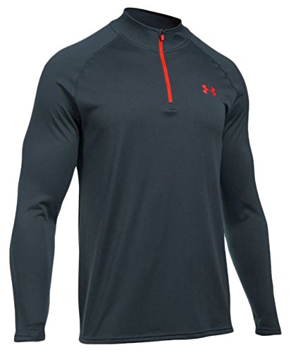 Under Armour Men's UA Tech 1/4 Zip, Stealth Gray (014)/Phoenix Fire, Small by Under Armour
