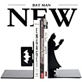 Batman Bookends,1 Pair,5 Inches,Heavy Steel,Black
