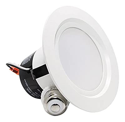 12 Watt 4-inch 2700K Soft White/5000K Daylight ENERGY STAR UL-classified Dimmable Retrofit LED Recessed Lighting Fixture