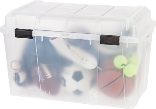 IRIS 138 Quart Store-It-All Storage Trunk, 3 Pack,Clear ()
