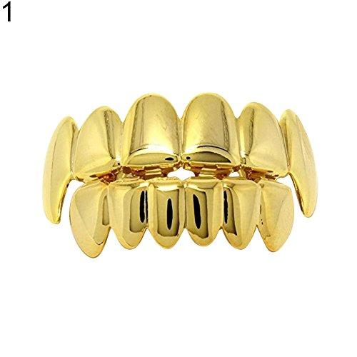 lightclub Hip Hop Teeth Caps Grillz Dental Tooth Grills Cosplay Halloween Party Jewelry 1#]()