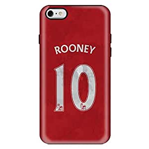 StylizeddApple iPhone 6/6s Premium Dual Layer Tough Case Cover Matte Finish - Rooney Jersey