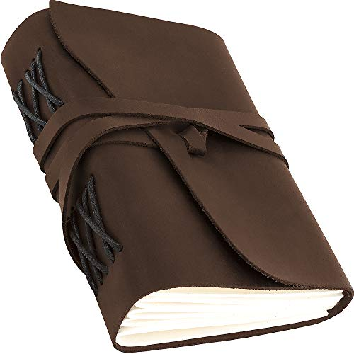 Leather Journal for Men Women - Leather Bound