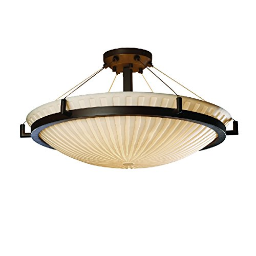 Justice Design Group Lighting PNA-9682-35-WFAL-DBRZ-LED5-5000 Porcelina-Ring 27