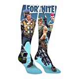 High Knee Socks Fortni-te Game Long Stockings Thigh Socks for Mens