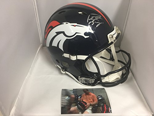Peyton Manning Signed Autographed Denver Broncos Revolution Proline Authentic Helmet W QB Facemask PM Personal Hologram W/Photo From (Autographed Authentic Pro Line Helmet)