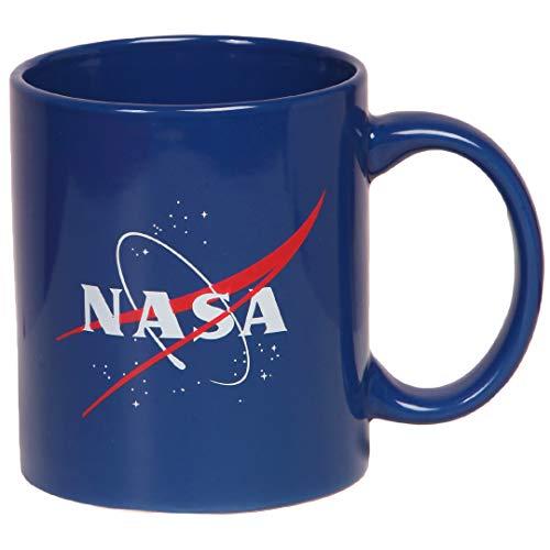 (Nasa Logo Ceramic Coffee Mug (Royal Blue))