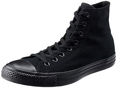 Converse Chuck Taylor Hi Top M9622 Navy (41-42 M EU / 10 B(M) US Women / 8 D(M) US Men, Black/Black)