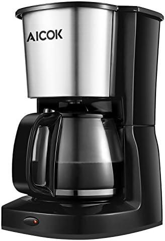 Aicok Cafetera de goteo capacidad de 10 tazas grandes Máquina de ...