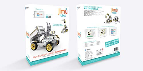 UBTECH JIMU Robot Builderbots Series: Overdrive Kit / App-Enabled Building and Coding STEM Learning Kit (410 Parts and Connectors) by UBTECH (Image #5)