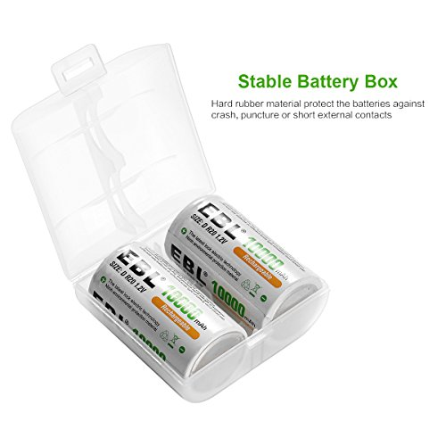 Review EBL D Size Battery