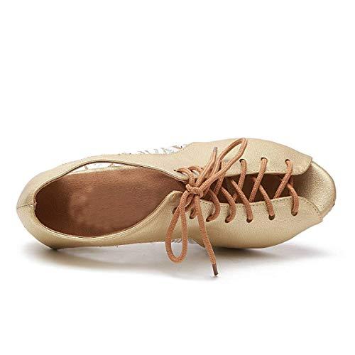 Femmes En Qiusa Lacets Talons Chaussures Uk 4 Pour Doré À coloré 5 Cuir Taille Et Compensés qAxXqrwIE