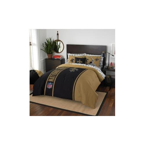 New Orleans Saints Comforter - Officially Licensed NFL Full Size Bed in a Bag Set
