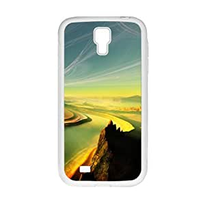 Personalized Clear Phone Case For Samsung Galaxy S4,winding mountains and rivers fancy landscape view