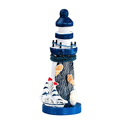 Mini Small lighthouse Resin Ornaments Mediterranean Style Arts Crafts Decoration Home Furnishing Marine