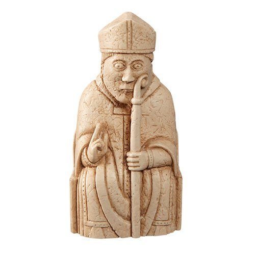 The Lewis Chessmen - BISHOP - Replica chess piece - 9cm - Lewis Chess Pieces