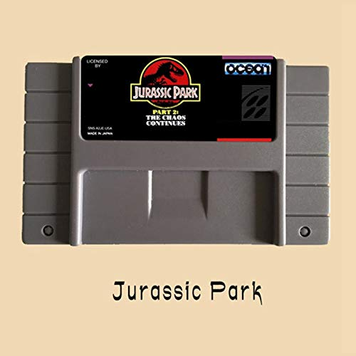 Jurassic Park Part 2-The Chaos Continues 46 Pin 16 Bit Grey Game Card For USA NTSC Game Player (Jurassic Park Part 2 The Chaos Continues Snes)