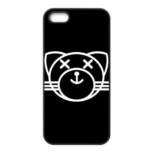 C5I84 Le Weeknd XO N4R3HG coque iPhone 5 5s cellule de cas de téléphone couvercle coque noire IK1QOX3PG