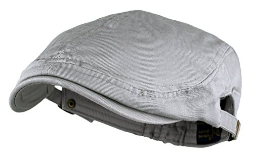 Men's Cotton Flat Cap Ivy Gatsby Newsboy Hunting Hat, Grey, One Size