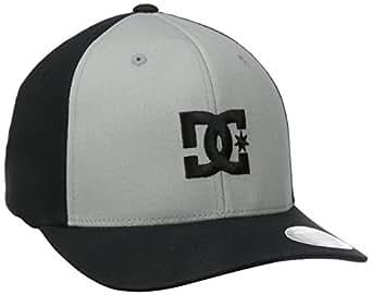 DC Men's Cap Star 2 Hat, Black/Monument, Small/Medium