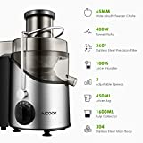 Juicer, Juice Extractor, Aicook Juicer Machine with 3 Wide Mouth, 3 Speed Centrifugal Juicer for Fruits and Vegs, with Non-Slip Feet, BPA-Free