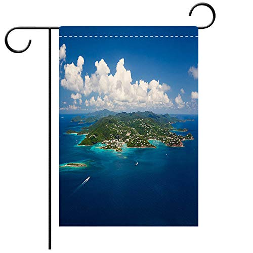 St Johns Virgin Islands - BEICICI Garden Flag Double Sided Decorative Flags Aerial Shot of St John in US Virgin Islands Best for Party Yard and Home Outdoor Decor