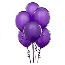 "Harry Zone 100 pcs Purple Latex 10"" Balloons for Decoration"